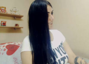 Girl with long hair for dirty chat