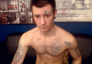 Cute gay with tattoos for live sex chat