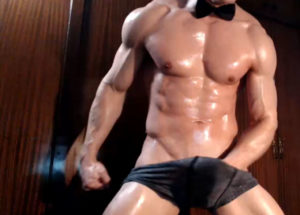 Hot Gay with muscular body builder