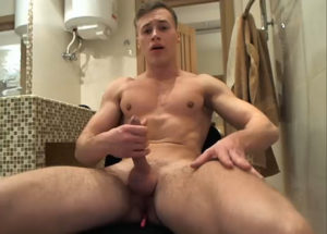 Boy with Lovense in asshole and masturbating on webcam