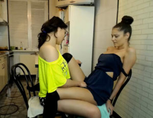 Two hot lesbian live in webcam for virtual sex