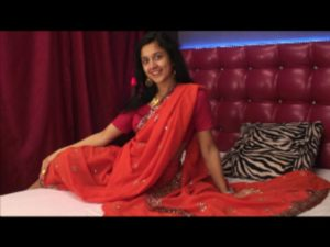 Beautiful Indian girl with red sari
