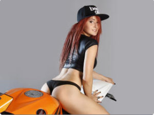 Hot girl by motocicle